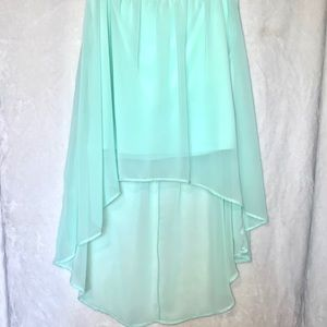 Forever 21   High-Low Chiffon Skirt Mint Size M